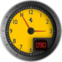 Clock Battery Ferrari Free icon