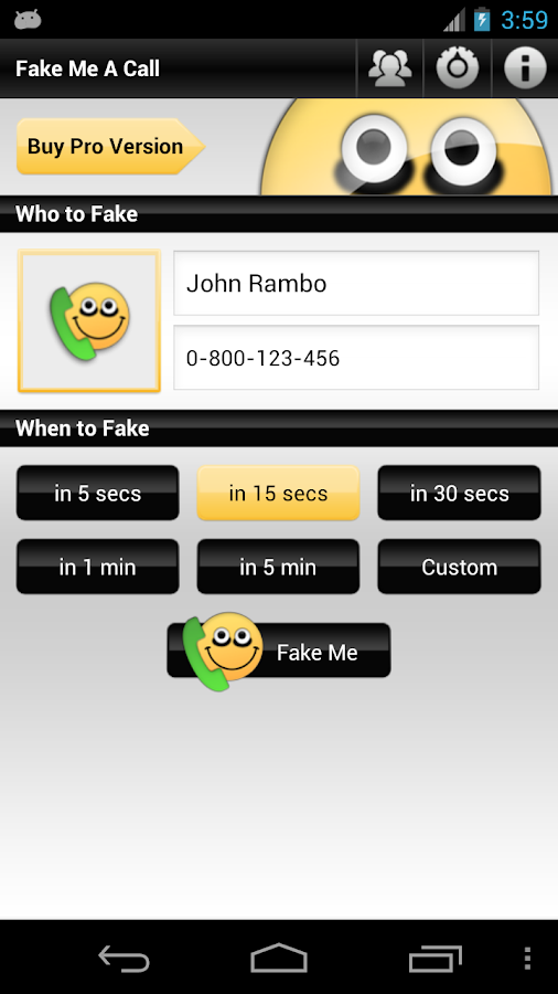 Fake Me A Call- screenshot