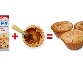 Super Easy PB&J Muffins