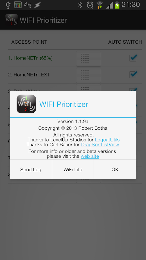 WiFi Prioritizer - screenshot