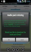 Screenshot of Yasin Audio (Mishary Alafasy)