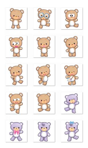Cute Bear Stickers-LINE