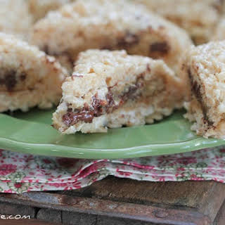 Inside Out Rice Krispie Chocolate Chip Cookies.