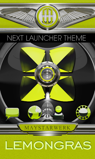 Next Launcher Theme Lemongras