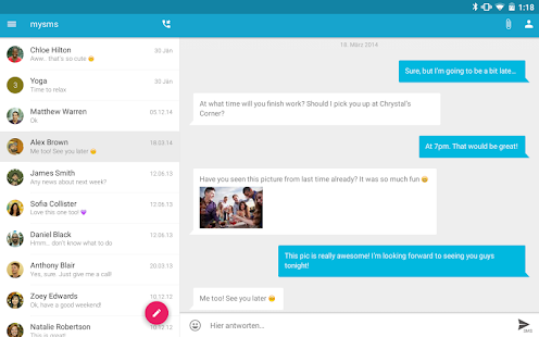 SMS Texting from Tablet & Sync - screenshot thumbnail
