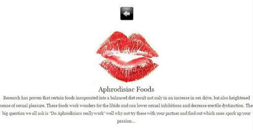 APHRODISIAC FOOD