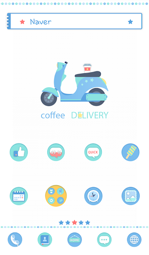 coffee delivery dodol theme