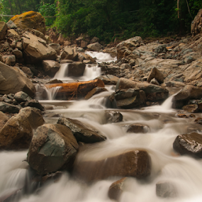 Water and Stone 4 by Husni Mubarok - Landscapes Waterscapes