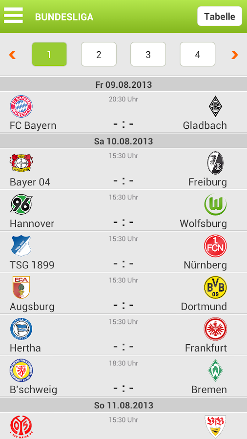 FUSSBALL.DE - screenshot