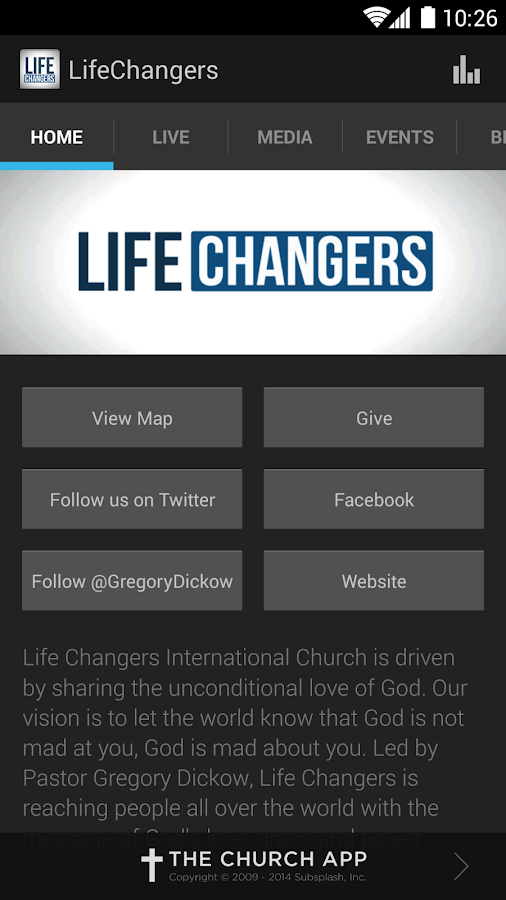 Life Changers Church App - screenshot