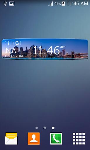 紐約數字天氣時鐘