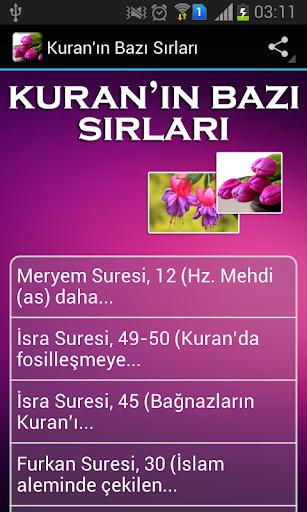 Kuran'ın Bazı Sırları