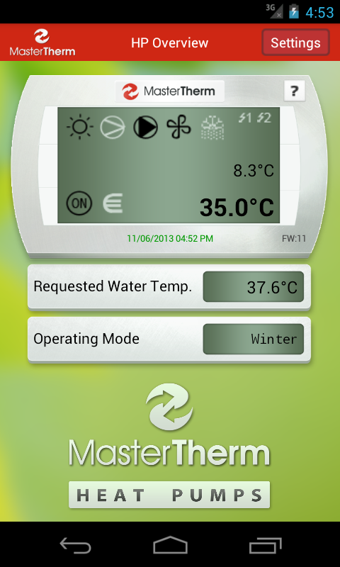 MasterTherm- screenshot