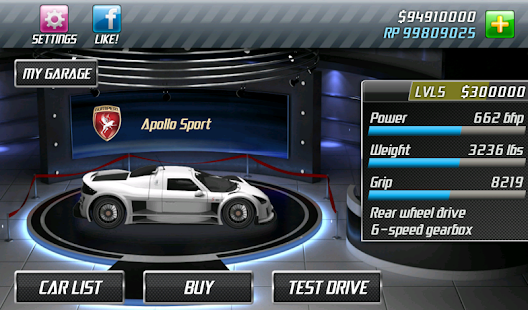 Drag Racing- gambar mini screenshot
