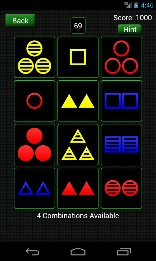Combinations - screenshot