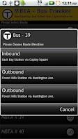 Screenshot of Boston Bus Tracker MBTA