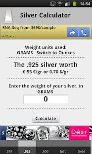 Silver Price Calculator Live- screenshot thumbnail