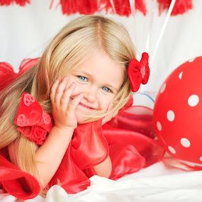 The Red Balloon by Kellie Jones - Babies & Children Child Portraits (  )