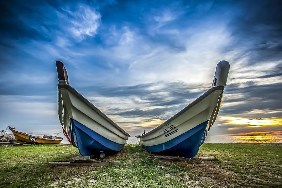 by Yk Fong - Transportation Boats