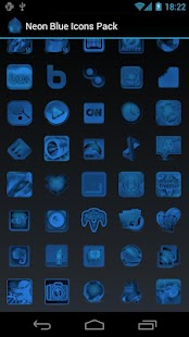 Neon Blue Icons Pack - ADW GO- screenshot thumbnail