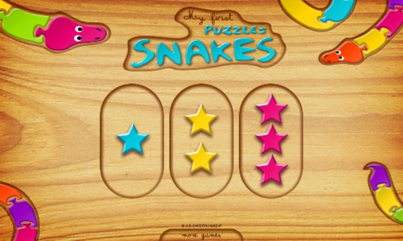 First Kids Puzzles: Snakes- screenshot