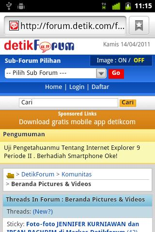 detikForum Launcher - screenshot