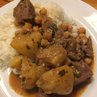 Lamb Tagine with Potatoes and Chickpeas Recipe