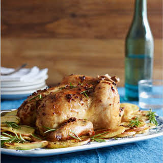 Tuscan Roast Chicken With Potatoes.