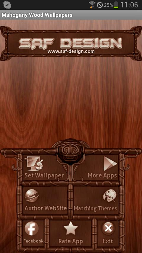 Mahogamy Wood GO Launcher EX - screenshot