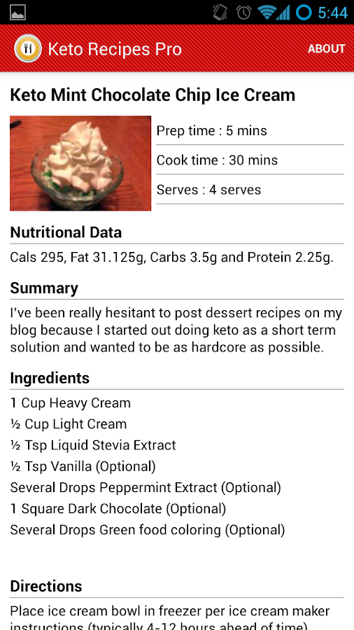 Keto and Low Carb Recipes - screenshot
