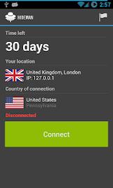 Hideman VPN Screenshot 1