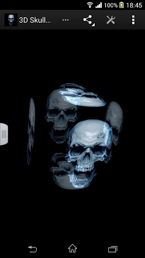 3D骷髏壁紙