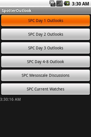 Storm Chaser SPC Outlook App - screenshot