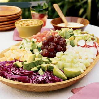Mexican Chopped Salad with Orange Crema.