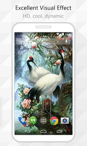 Cranes Live Wallpaper
