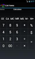 Screenshot of Easy as ABC Shopping List