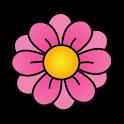 Pink FLower Clock Widget