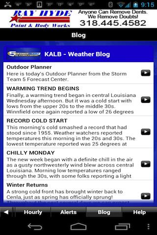 KALB WX - screenshot