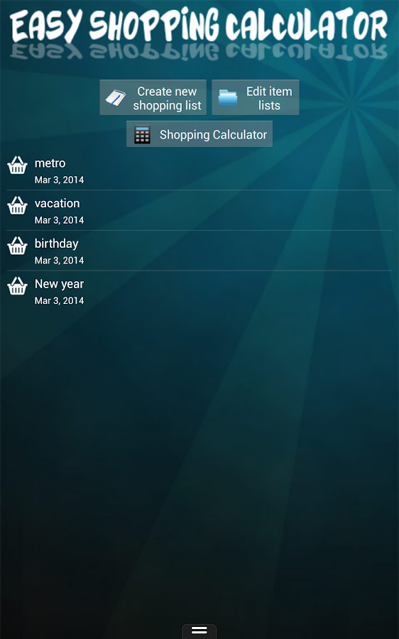 Easy Shopping Calculator- screenshot