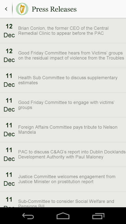 Houses of the Oireachtas- screenshot