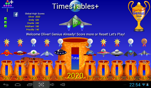 Times Tables +