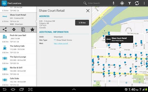 Shaw Go WiFi Finder - screenshot thumbnail
