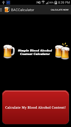 Simple Blood Alcohol Content