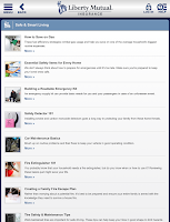 Screenshot of Liberty Mutual Mobile