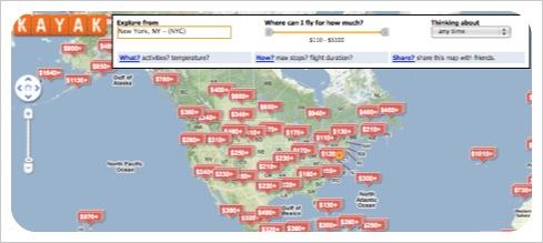Travel Trend :: Visual Flight Search — Trip Styler on kayak explore map, kayak fare map, kayak flights europe, kayak airfare map, kayak flights round trip,