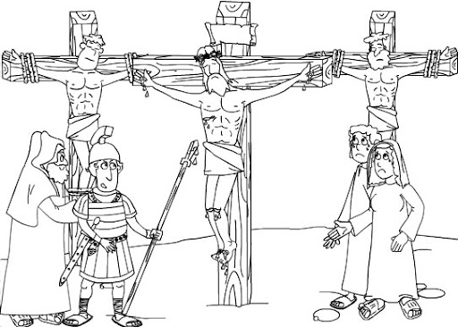 Coloring page religion - crucifixion jesus - free coloring pages | 366x512