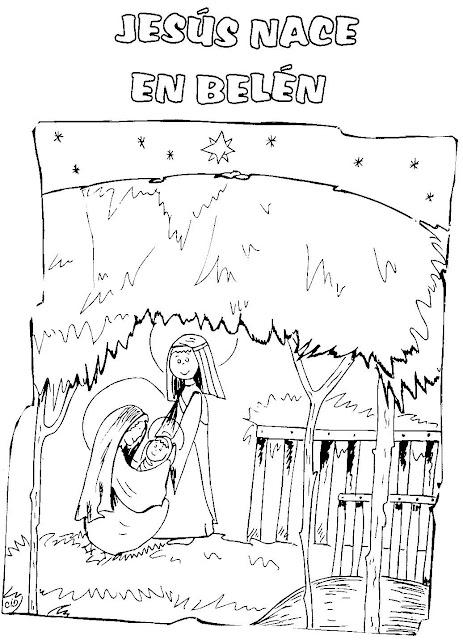 La Vida De Jesus En Dibujos Para Pintar
