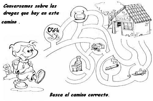 Fichas De Prevencion Para Niños En Blanco Y Negro Para Pintar