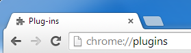 Screenshot of Chrome plugin URL