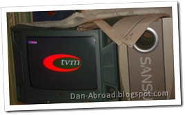 TVM on my family's TV set
